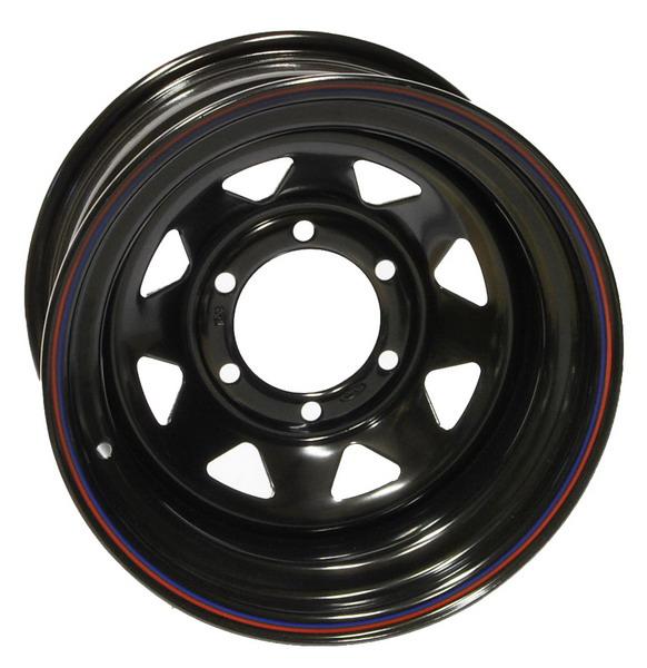 4MAD Felga stalowa czarna 15×8 6×139,7 Et-25